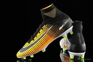 Nike JR Mercurial Superfly V DF FG Soccer Cleats ACC Orange-Black 921526-801