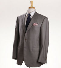 New Custom $4695 OXXFORD HIGHEST QUALITY Solid Beige Extrafine Wool Suit 40 R