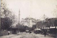 Costantinopoli Sainte Sophie Turchia Foto Vintage Analogica Ca 1900