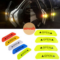 4x Car Safety Reflective Tape Sticker Door Open Warning Sticker Reflector Yellow