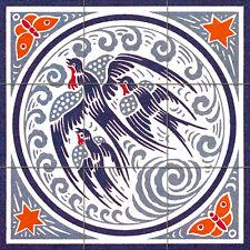 Mural Ceramic Tiles Art Nouveau Backsplash Tile #512