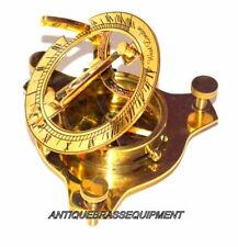 Maritime antique 3'' brass sundial compass nautical decor collectible good gift