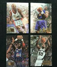1995-96 Fleer Metal lot of 4, Hakeem Olajuwon #154 plus 3 other Fleer Metals!!
