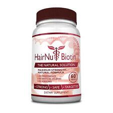 HairNu Biotin - Natural Hair Loss Treatment - Fast Hair Growth  (1 Bottle)