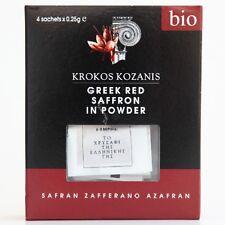 Greek Bio Red Safron in powder Krokos Kozanis - 4 x 0.25 g