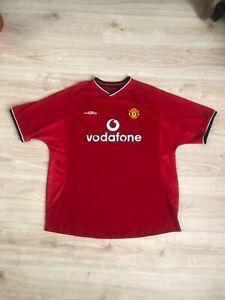 Soccer jersey Manchester United Vodafone 2000 2002 Home Football size men's XXL