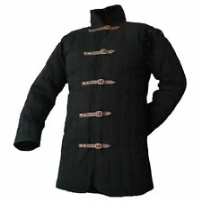 new gift Medieval thickpadded Black Gambeson coat Aketon Jacket reenactment