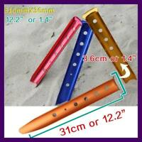 2pcs /4pcs Aluminum Outdoor Camping Tent Peg Ground Nail Sand Ground Stakes Pegs