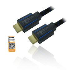 5m 16'ft Premium Certified HS/E HDMI V2.0 Male to Male 4K@60Hz - BLACK/BLUE