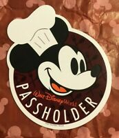 NEW Authentic Walt Disney World Food & Wine Chef Mickey Annual Passholder Magnet