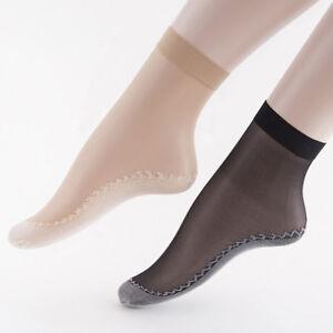 10 pairs  Women's Ankle Socks Sexy Elastic Silky Short Silk Stockings Anti-Slip