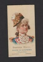 1888 Allen & Ginter World's Beauties N27 BERTHA RICCI