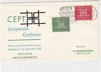 germany 1963 europa stamps cover ref 20253