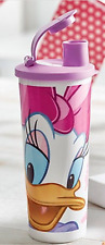 Tupperware Disney Tumbler w/ Flip-Top Drink Seals Daisy Duck New