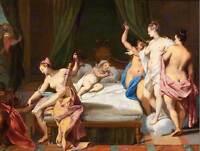 PAINTING ALLEGORY ROMAN VLEUGHELS VENUS THREE GRACES CUPID ART PRINT HP1490