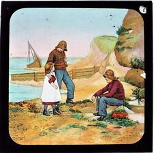 Peter The Fisherman - Antique Box Set of 24 Magic Lantern Slides c1900