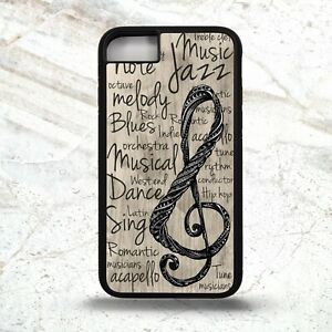 Music note treble clef musical quote phrase art pattern graphic phone case cover