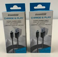dreamGEAR Playstation 4 Charge and Play Premium Connection Cable 10' (2-PACK)