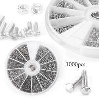1000pcs 12 Small Screws Nuts Assortment Kit M1 M1.2 M1.4 M1.6 Practical Tool