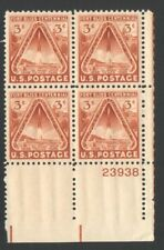 Vintage Unused US Postage Block 3 Cent Stamps Fort Bliss Centennial ElPaso Texas