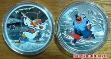 2011 2pcs 1oz outlaws of the marsh colored silver coins with COA,original box