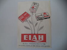 advertising Pubblicità 1949 ELAH GHIACCIO MENTA/CREMA DA TAVOLA/CUBIK