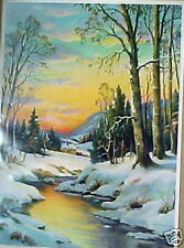 "William Thompsom Snow Scene ""Wane of Winter"" COOL!!!"