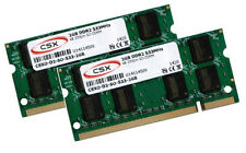 2x 2GB 4GB Notebook Speicher DDR2 RAM 533 Mhz SO DIMM PC2-4200S 200 pin CSX