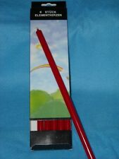 """6 pack Red 1/2"""" x 10"""" Taper Candles, Each Burns 5-6 hrs, Germany, Dripless, New"""