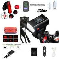 1000LM LED Bicycle Bike Lights USB Rechargeable Headlight Front Rear Tail Lamp