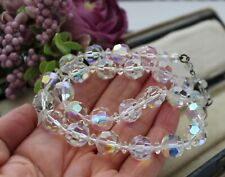 VINTAGE 1950s FACETED CRYSTAL GLASS NECKLACE. VINTAGE JEWELLERY - NECKLACES