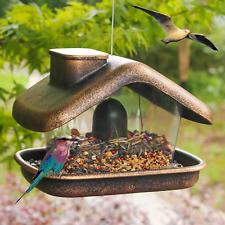 Funpeny Hanging Wild Bird Feeder Panorama House Bird Feeders and Garden Decorat