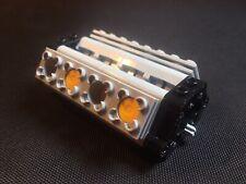 Lego Technic V8 Engine 55pcs NEW (Light Bluish Gray,Black,Motor,Shaft,Car)