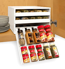 Chef's Edition SpiceStack 30-Bottle Spice Organizer with Universal Draw, New
