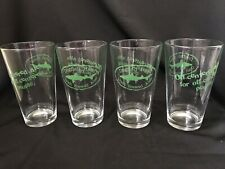 (4) New Dogfish Head 'Off-Centered Ale, Off-Centered People' Pint Glasses