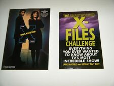 "Vintage X-Files Lot of 2 New Paperback Books ""Declassified"" and ""Challenge""Oss"