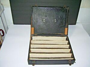 Vintage HO Model Train Storage Travel Case,  Suitcase w/clasp & handle