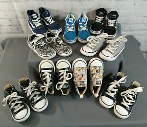 Lot of 9 toddler VANS & CONVERSE CHUCK TAYLOR athletic shoes - SIZE 9