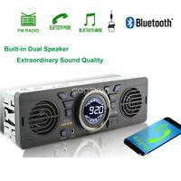 Autoradio SD 12V Haut-parleur FM MP3 Lecteur AUX Stéréo USB TF 1 Din Bluetooth