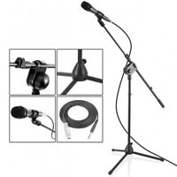 New PMKSM20 Microphone and TriPod Stand With Extending Boom & Mic Cable Package