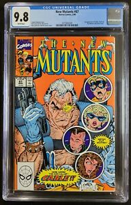 New Mutants #87 CGC 9.8 White 1st Appearance CABLE Marvel 1990
