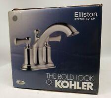 Kohler Elliston Bathroom Faucet With Pop-Up, 2-Handle, Polished Chrome Centerset