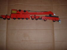 HORNBY 4 PIECE 75 TON BREAKDOWN RECOVERY CRANE SET RED LIVERY VGC
