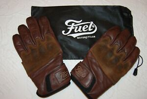 Fuel Motorcycle Brown Riding Gloves Large XL NICE!