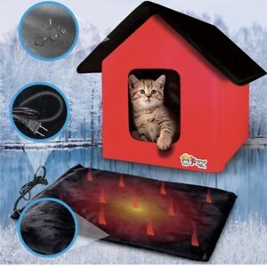 Indoor/Outdoor Cat / Small Dog Thermo House - Heated Floor Is Removable