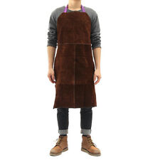 "24""x35""Cow Leather Welding Welder Apron Heat Resistant Blacksmith Mechanic Smock"