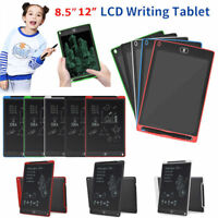 """8.5""""12""""LCD Writing Pad Kids Drawing Painting Tablet Message Doodle eWriter Board"""