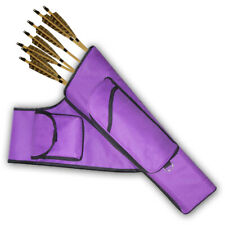 Three Tubes Target Side/Hip Fabric Arrow Quiver Faqpt787A Purple R/H