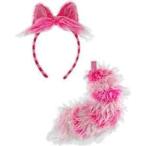 Cheshire Cat Headband & Tail Alice Wonderland Halloween Adult Costume Accessory