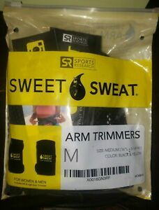 Sports Research Sweet Sweat Arm Trimmers Unisex Size Med Black/Yellow W/Gel Samp
